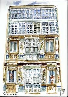 La Coruña Edificio de la plaza de Lugo nº14