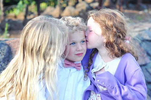 Bianca Annika kissing Bennett at Jefanda's wedding