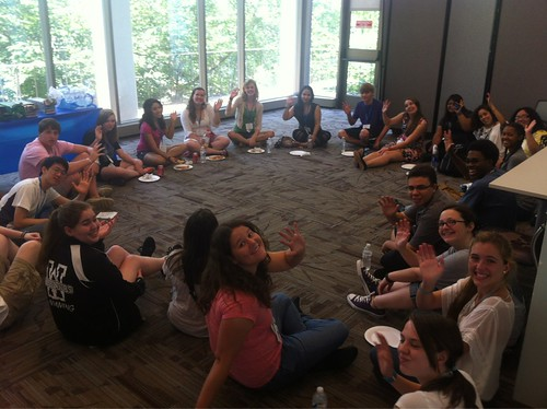 NSLC COMM Students form Circle of Friendship