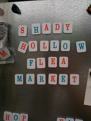Shady Hollow Flea magnets