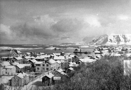 Brønnøysund - Blick von der Stellung auf Brønnøysund nach Norden