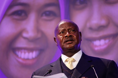 President Yoweri Museveni of Uganda, speaking at the London Summit on Family Planning