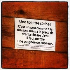 Toilette sèche #wc