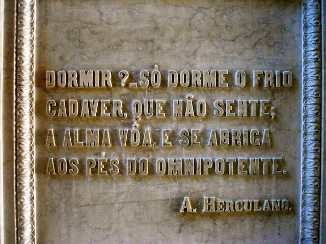 Poetry inside the Jeronimos Monastery