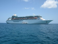 Monarch of the Seas at anchor off Coco Cay