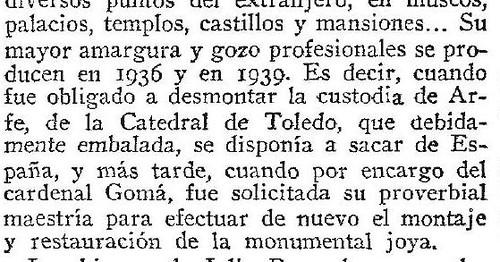 Extracto del obituario de Julio Pascual en el ABC del 8 de diciembre de 1967