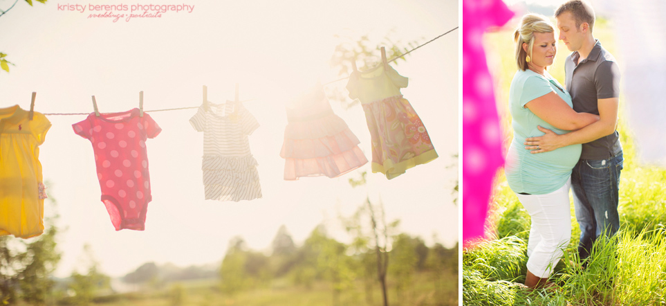Maternity Session with Clothesline