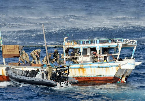 Royal Marines on Counter Piracy Operations Near Somalia