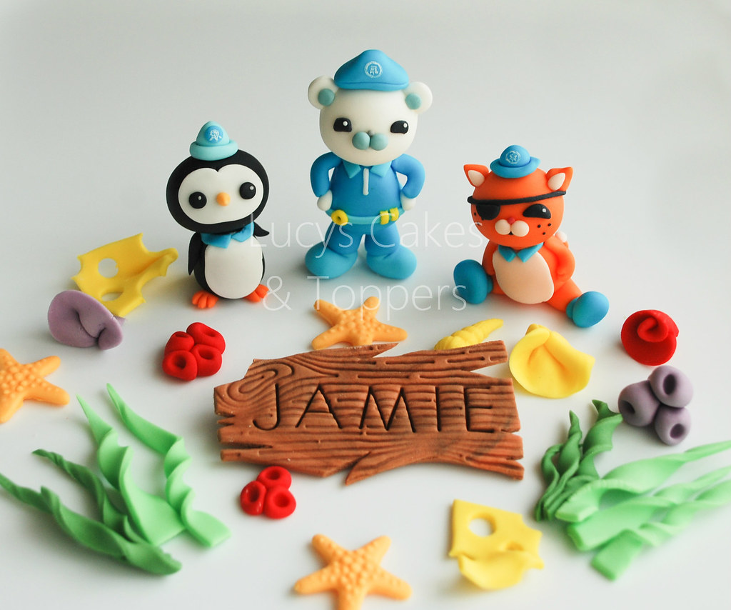 Octonauts edible cake toppers - a photo on Flickriver