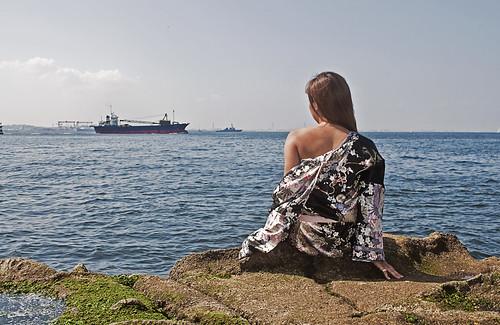 Sea and kimono