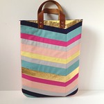 Art-Inspired Chevron Tote - Button