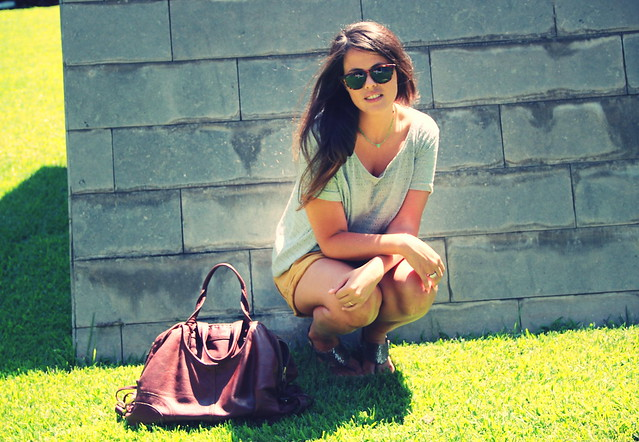 Look shorts mostaza + gris