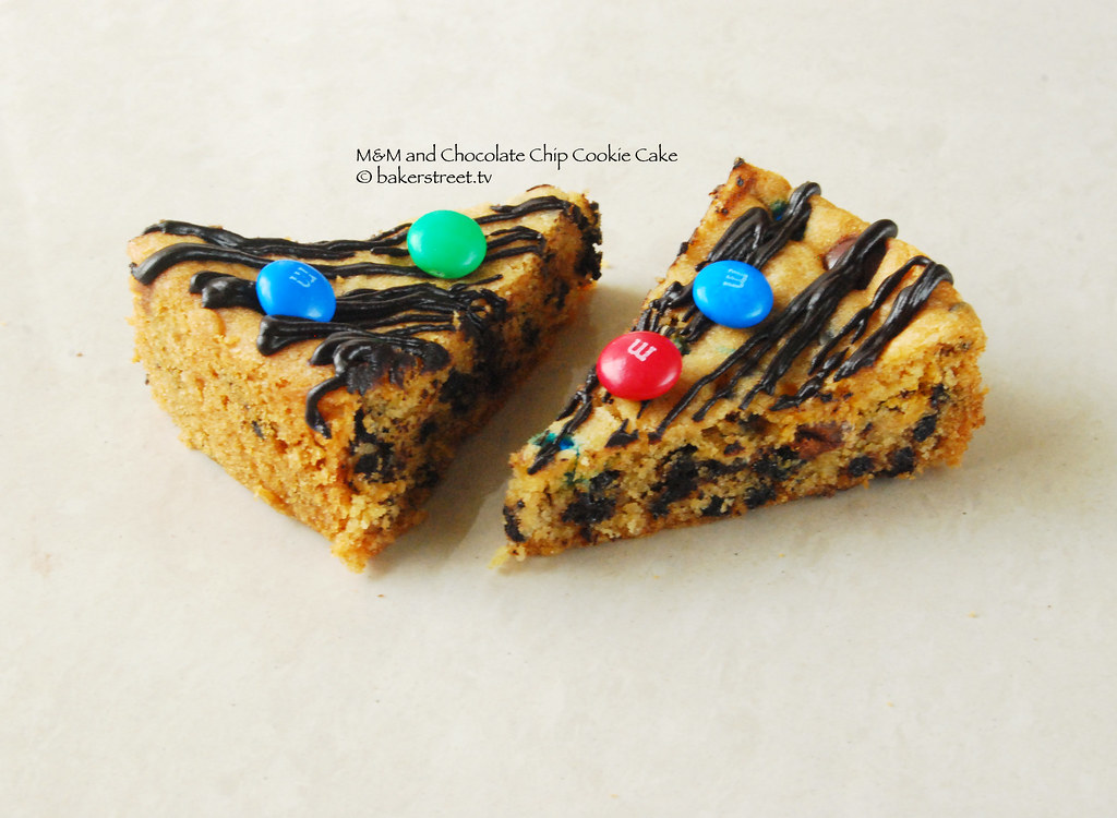 M&M and Chocolate Chip Cookie Cake from Baker Street