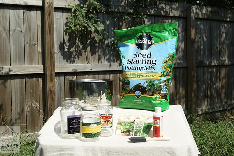 Herb Garden Jars - Step 1