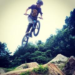 アップし忘れ。ヒビキの360!! #bmx #trails