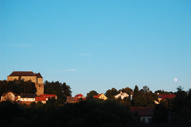 Albrechtsberg, blaue Stunde