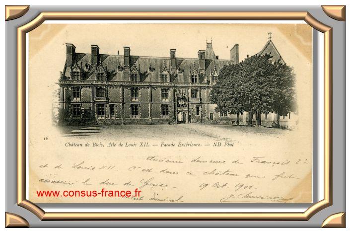 Château de BLOIS - Aile de Louis XII - Façade extérieure - 16- ND Phot -70-150