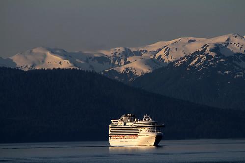 Diamond Princess Approaching Glacier Bay