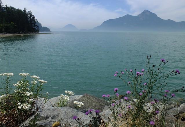 uitzicht vanaf Porteau Cove