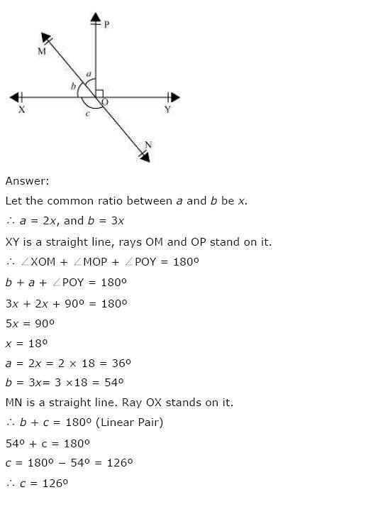 Solutions For Class 9 Maths Solutions Chapter 6 Lines and Angles – Angles Worksheet Pdf