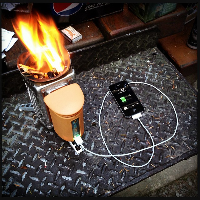 Charging Duane's phone with FIRE
