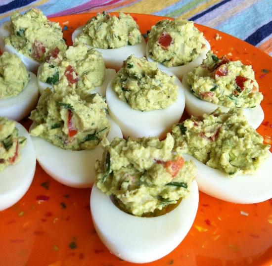 overjoyed: Guacamole Deviled Eggs