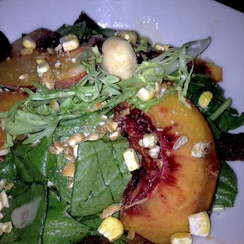 summer peach salad - co co sala