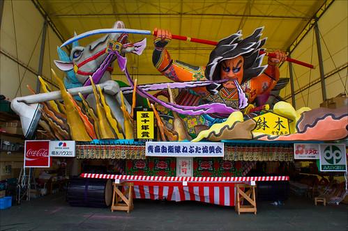 Figuras de papel maché del Festival Nebuta