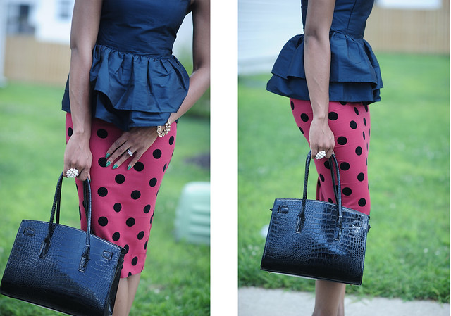 Asos Polka dot & peplum details by www.jadore-fashion