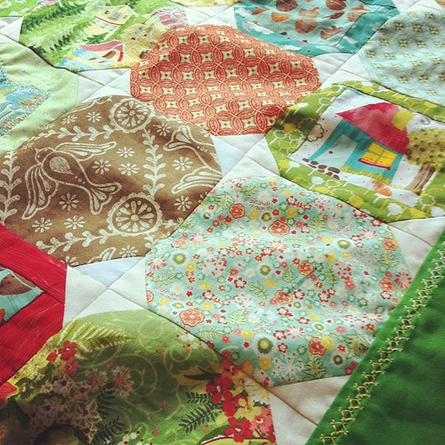 Hideaway Folk Family Quilt top