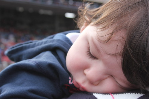 asleep during halftime