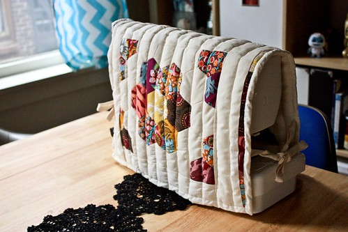 Double-Sided Quilted Sewing Machine Cover