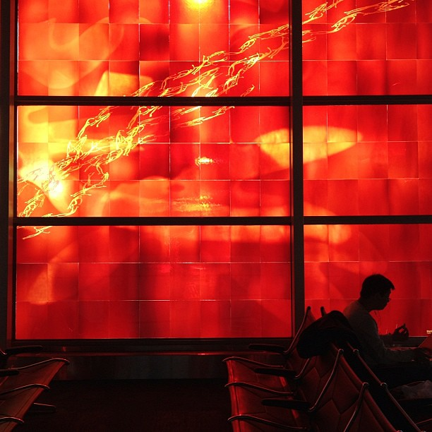 The Red Room #window #airport #scl_travel