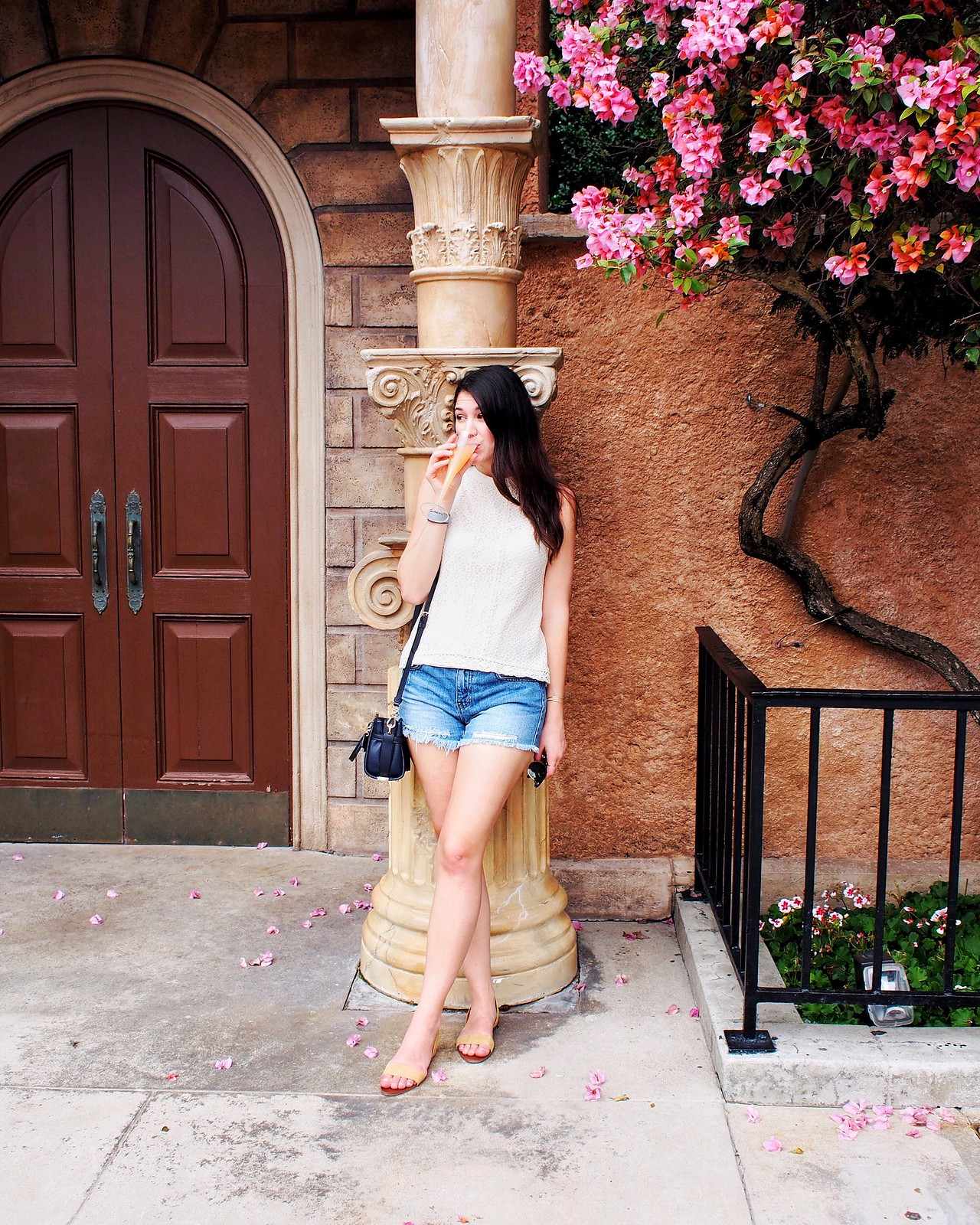 Summer Lace and Ripped Shorts in Disney World