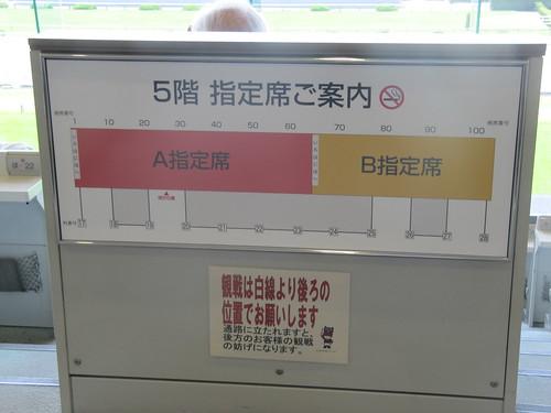京都競馬場A指定とB指定の区切り