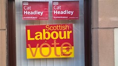 Labour poster in Edinburgh West, Scottish Elections, May 2016