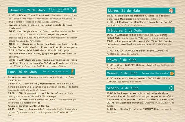 Burela 2016 - Festas Patronais - programa 2