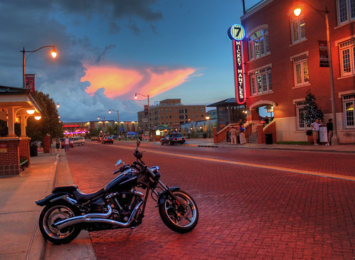 city sunset oklahoma star cloudy mickey motorcycle hdr mantle bricktown stryker