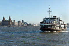 Snowdrop the Mersey Ferry coming into Seacombe