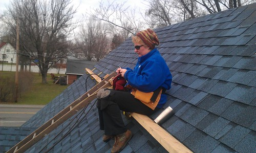 knitter on the roof