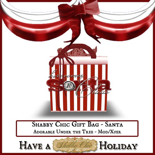 Shabby Chic Gift Bag - Santa by Shabby Chics
