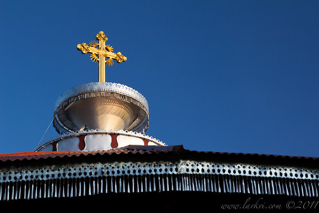 Rooftop Cross, Hayq Estifanos Church, Wollo, Ethiopia, 2011