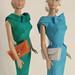Vintage Barbie silk sheaths by dal's dolls