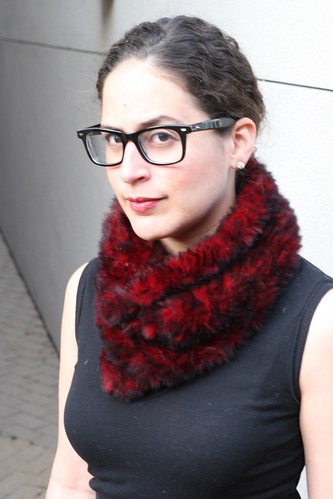 Rabbit Fur Cowl