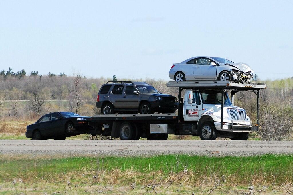 Dan S Towing International Truck With Jerr Dan Multi Car Carrier