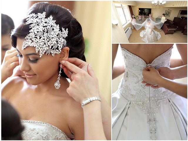 Nargiza & Sukhrob, bridal headpiece by Bridal Styles New York