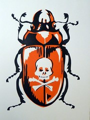 Two colour serigraph (hand-cut stencils)