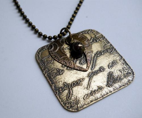 Etched brass by lorielynn1
