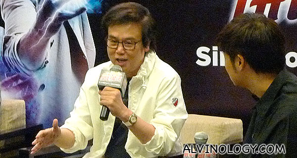 Raymond sharing his experience as the movie producer and one of the lead actor