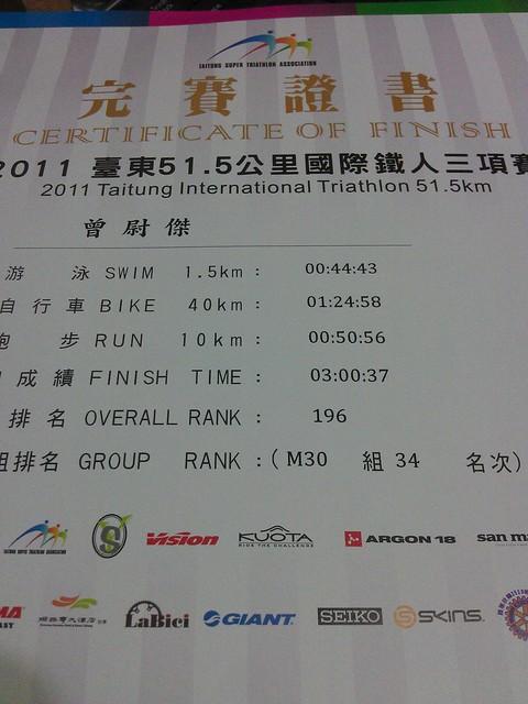 2011台東鐵人三項
